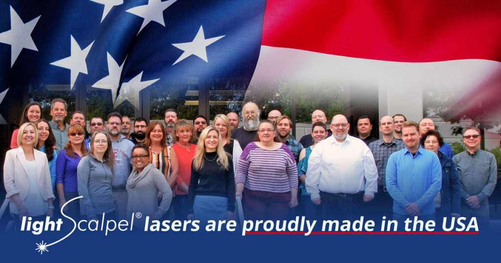 LightScalpel lasers are proudly made in the USA
